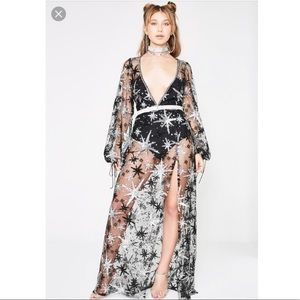 For Love And Lemons Stardust Maxi Dress
